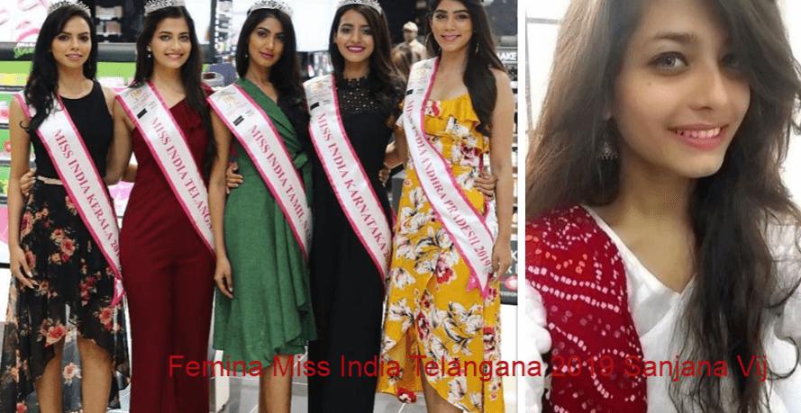 Femina Miss India Telangana 2019 Sanjana Vij