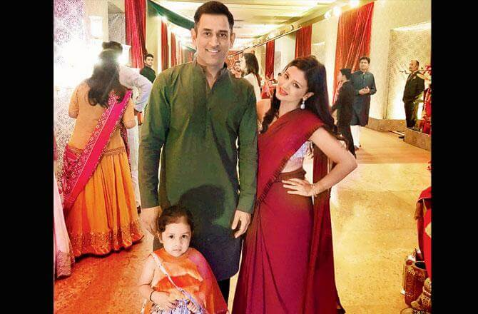 MS Dhoni Family, wife, daughter