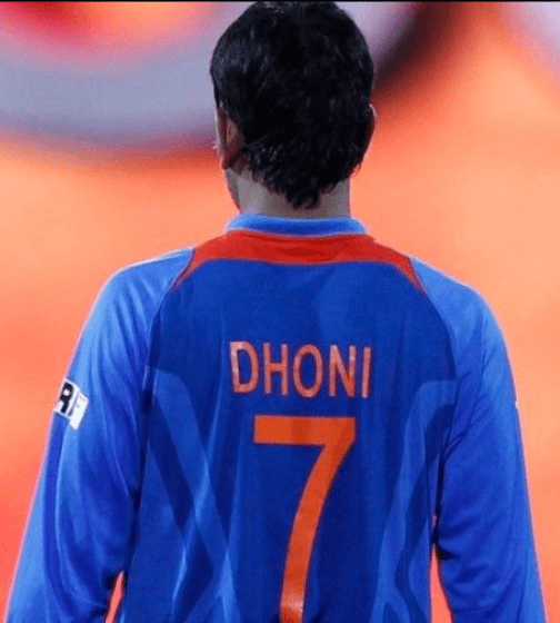 MS Dhoni Jersey Number