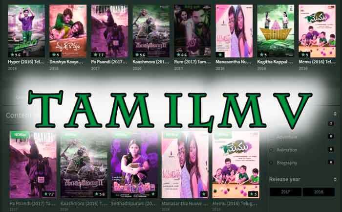 What kind of movies are available on TamilMV website?