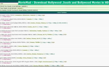 Moviemad 2020: Watch Bollywood Movies Online Download Latest Hindi Dubbed Movies from Moviemad