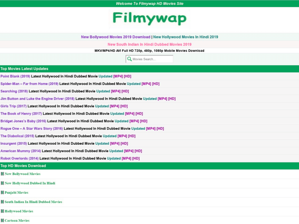 Is downloading movies from Filmywap 2020 valid?
