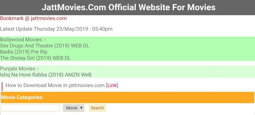 Is downloading movies from Jattmovies 2020 valid?