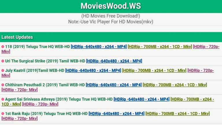 Movieswood 2020 Alternative Websites
