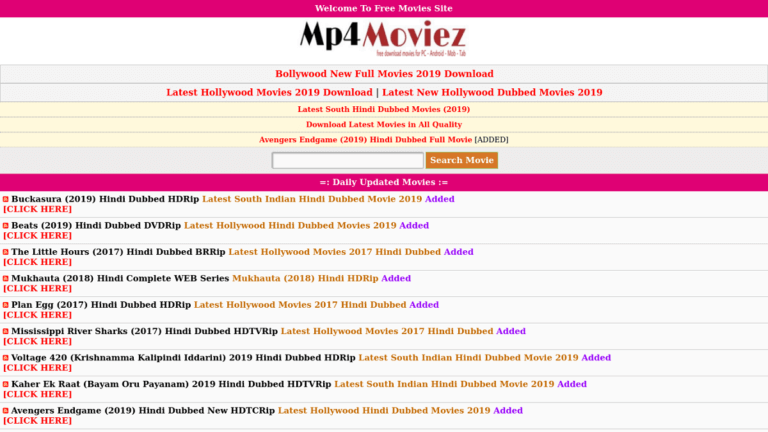 Mp4Moviez 2020: Watch Bollywood Movies Online Download Latest Hindi Dubbed Movies from Mp4Moviez