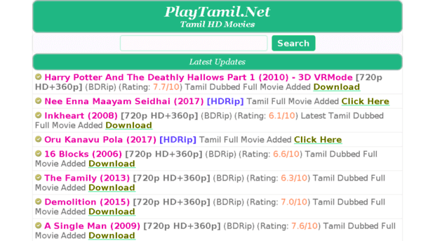 Is downloading movies from Playtamil 2020 valid?