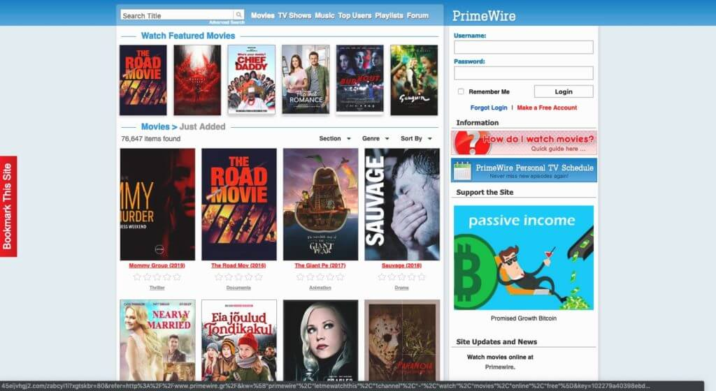 Is downloading movies from Primewire 2020 valid?