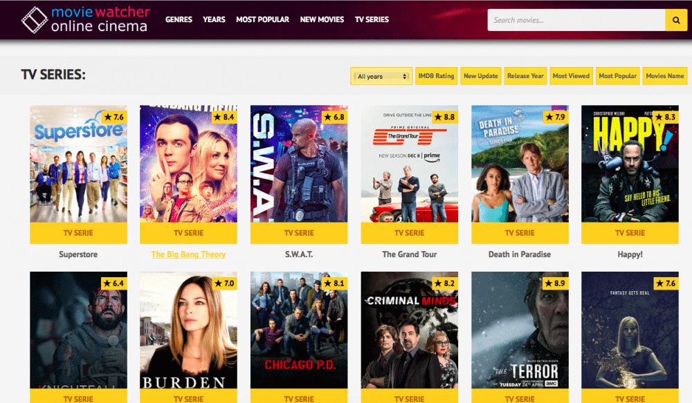 Movie watcher - Best alternative site of putlocker
