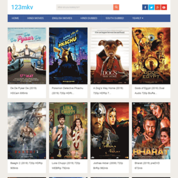 123Mkv 2020 - Watch the latest Hindi Dubbed Movies on 123Mkv for free