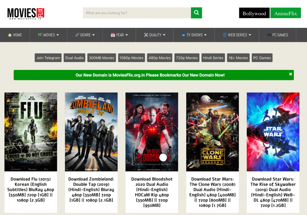 Moviesflix 2020 - Watch the latest Hindi Dubbed Movies on Moviesflix for free