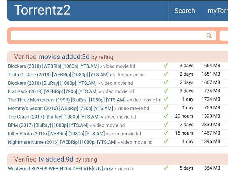 Torrentz 22020 - Watch the latest Hindi Dubbed Movies and Online Charges on Torrentz 2