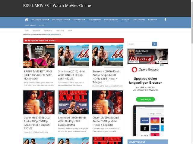 Big4umovies 2020 – Watch Latest Hindi Dubbed Movies Online Free on Big4umovies